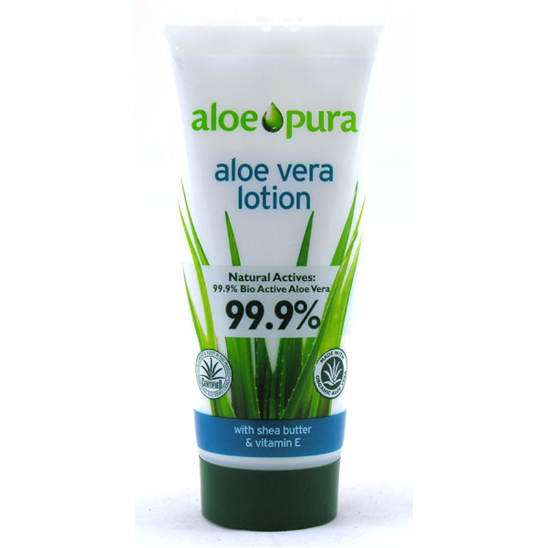 aloe vera pura body lotion natural bio actives ebay. Black Bedroom Furniture Sets. Home Design Ideas