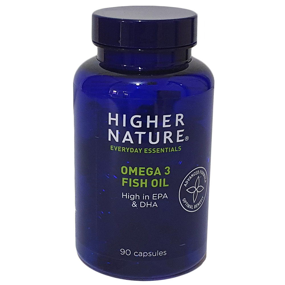 Higher nature fish oil omega 3 1000mg 90 capsules ebay for Fish oil for sale