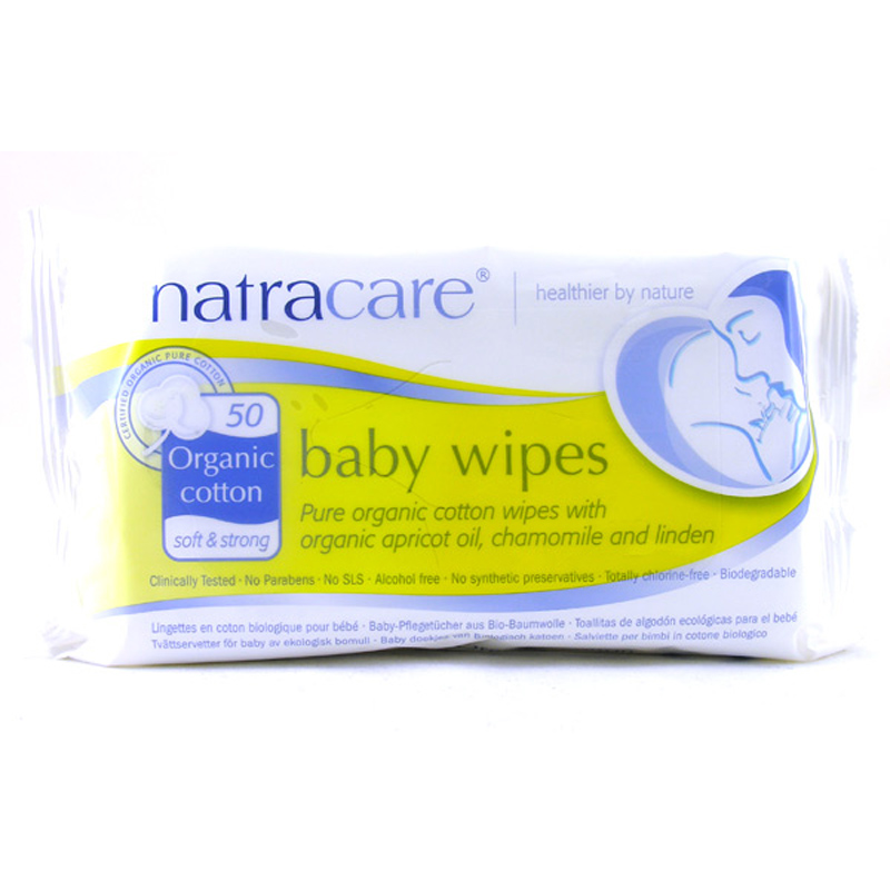 Organic cotton baby wipes from natracare wwsm