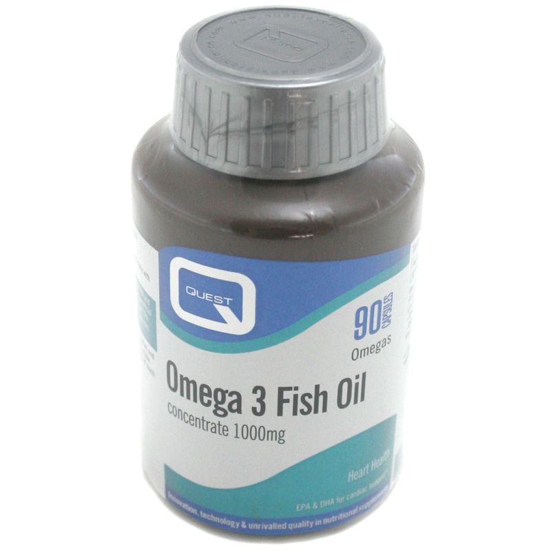 Quest omega 3 fish oil concentrate 1000mg 90 capsules ebay for Fish oil capsules