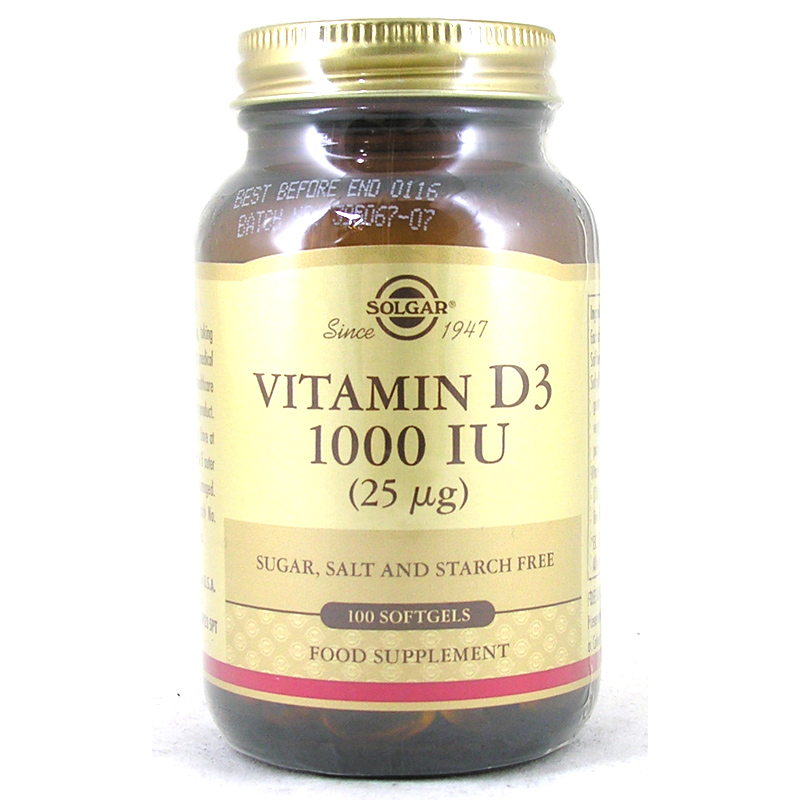 Vitamin D3 Softgels 1000iu From Solgar Wwsm