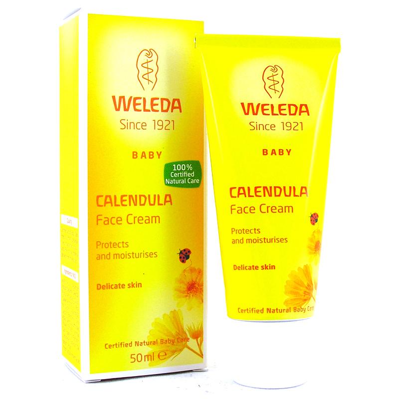 Calendula cream on face